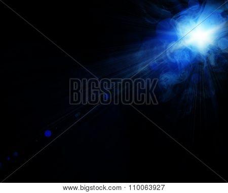 illustration of spot light with a smoke