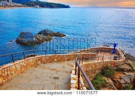 Cami de Ronda track at Lloret de Mar of Costa Brava Catalonia spain
