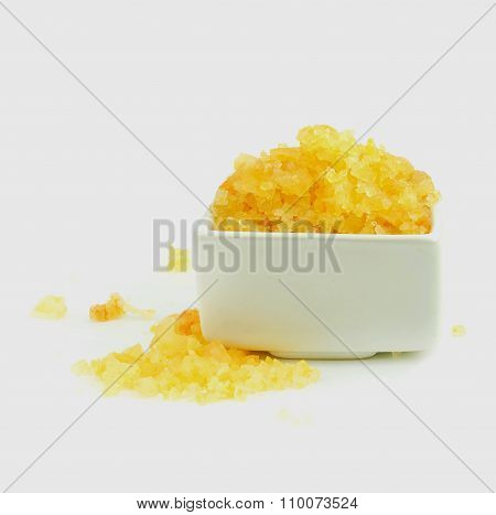 Yellow Spa Salt. Spa Treatment