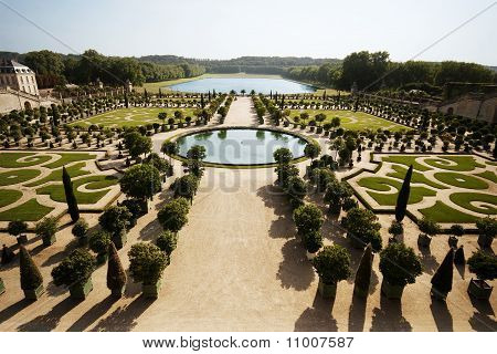 The Sprawling Landscape at L'Orangerie in Versailles, France