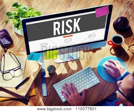 Risk Chance Safety Security Unsure Weakness Concept