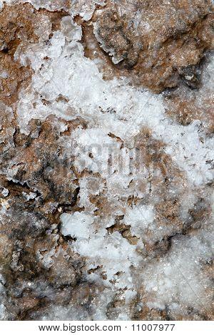 Dried Salt On Floor Texture Marine Background