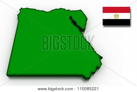 Egypt Map And Flag