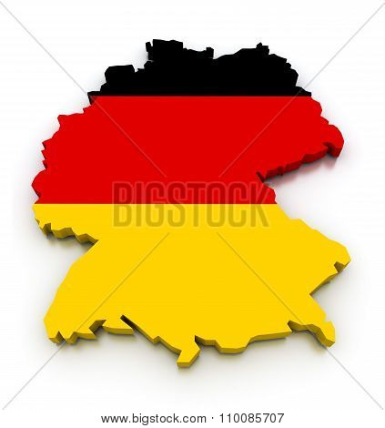 Germany Flag Map