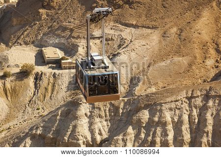 Cable Car To Masada Fortress. Israel.