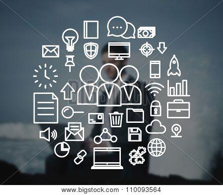 Teamwork Collaboration Unity Optional Concept
