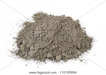Gray cement powder