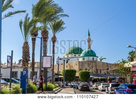 The Jezzar Pasha Mosque in Akko, Israel