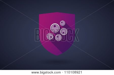 Long Shadow Shield Icon With Oocytes