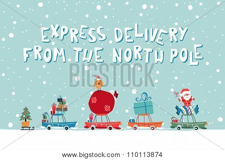 Santas Express From The North Pole illustration