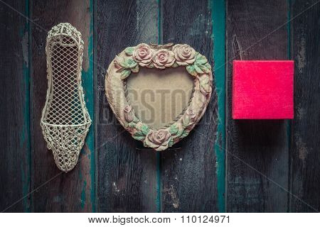 Gifts On A Wooden