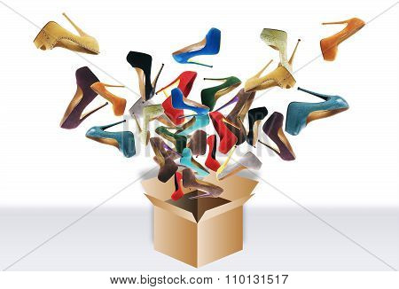 Many women's shoes