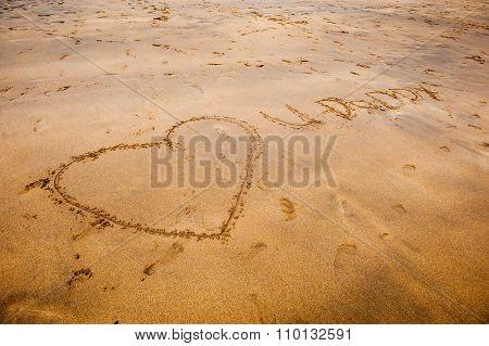Sand writing