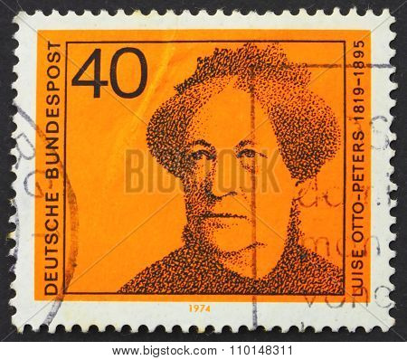 Postage Stamp Germany 1974 Luise Otto-peters, Writer And Journal