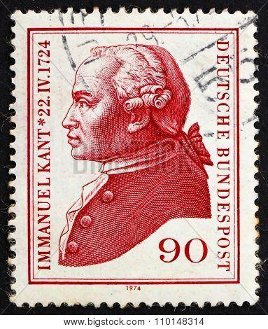Postage Stamp Germany 1974 Immanuel Kant, Philosopher