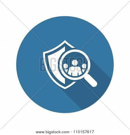 Safety Checking Icon. Flat Design.