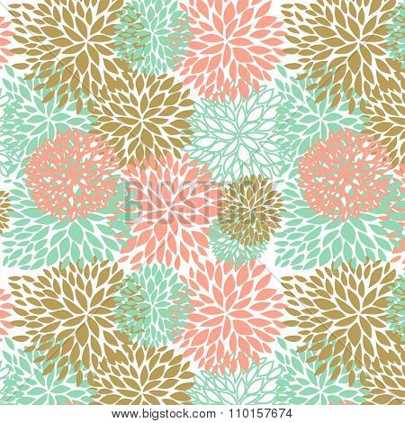 Floral seamless pattern in pastel colors. Seamless pattern can be used for wallpaper, pattern fills, web page background, textile, web and other design.