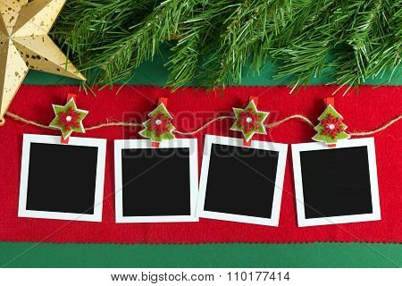 Christmas Polaroid Photo Frames