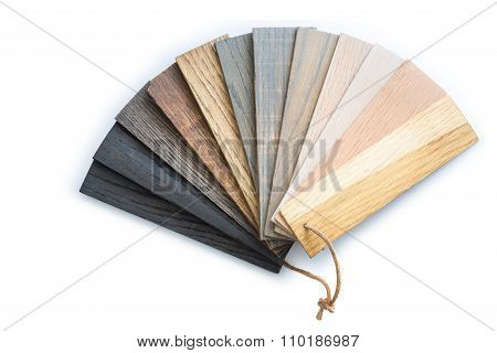 Piece Of Wood Color Guide For Sample Isolated On White Background