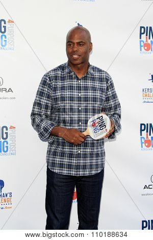 LOS ANGELES - JUL 30:  Kevin Frazier at the Clayton Kershaw's 3rd Annual Ping Pong 4 Purpose at the Dodger Stadium on July 30, 2015in Los Angeles, CA