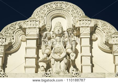 Statue of Shiva with Ornament Architecture at Hindu Temple
