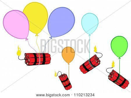 Dynamite on balloons