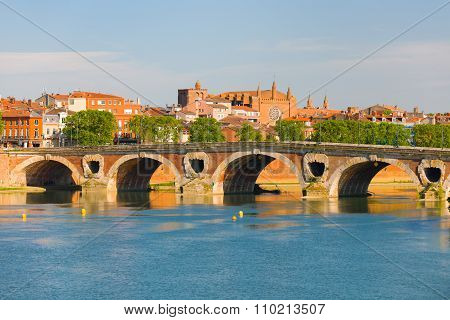 Cityscape Of Toulouse In Summer
