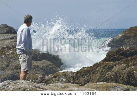 Man And Waves