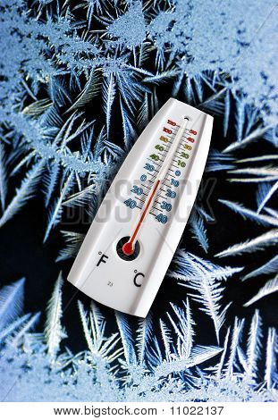 Thermometer in freeze