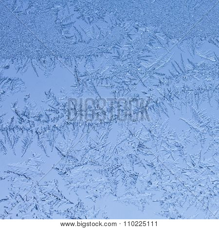 Frosty blue textured winter background