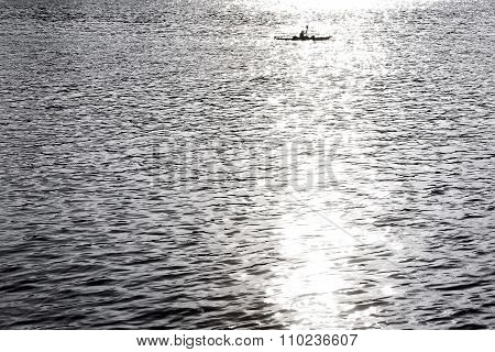 Canoe in sunlight