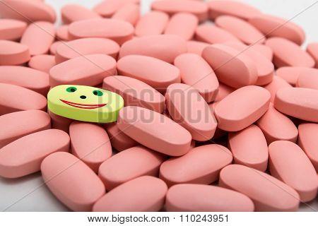 Pile of tablets vitamines