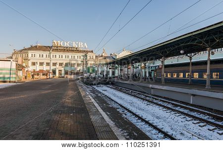 Belarusian Railway Station In Moscow.