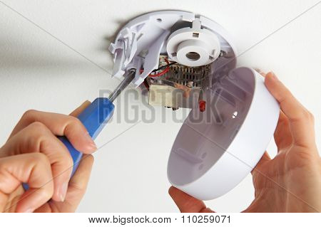 Installing Smoke Detector At Home