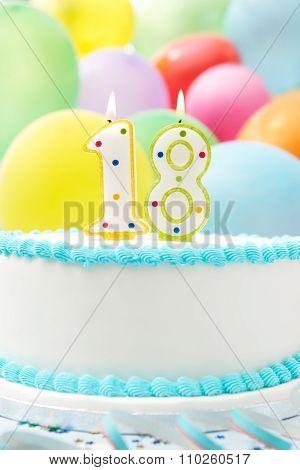 Cake Celebrating 18Th Birthday