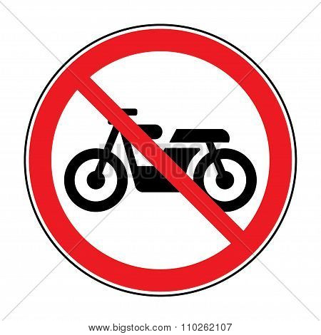 No Motocycle Sign