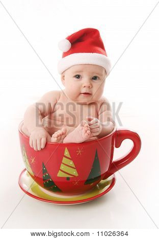 Santa Baby In A Large Mug