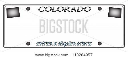 Colorado License Plate