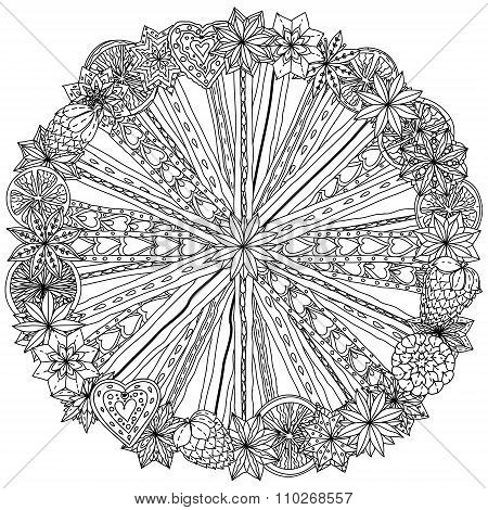 Circle Christma ornament.