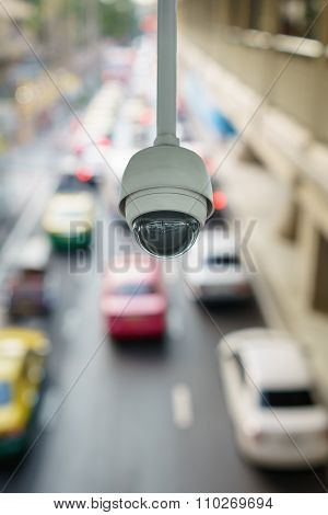 Cctv Camera To Traffic Monitor And Surveillance On Road