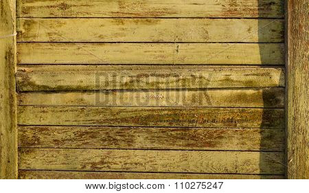 Tarnished wooden plank
