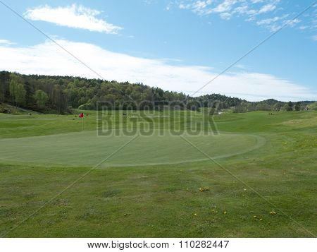 Golf Course One Early Summerday