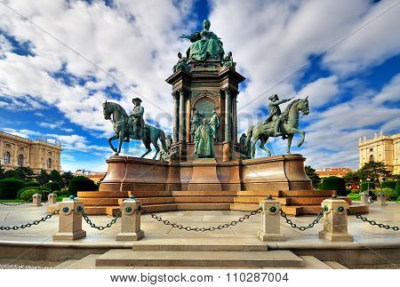 Maria Theresa Square In Austria. Historical Monument