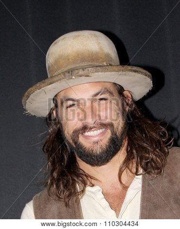 PROVIDENCE, RHODE ISLAND - NOV 7: Jason Momoa arrives at the 4th Annual Rhode Island Comic Con in Providence, Rhode Island on Nov. 7, 2015.