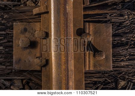 Rusty railroad.