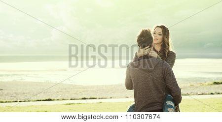 Happy Couple At The Lake