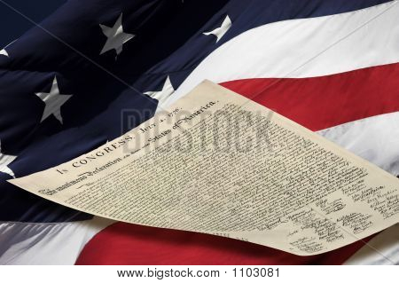 Usa Flag And Declaration