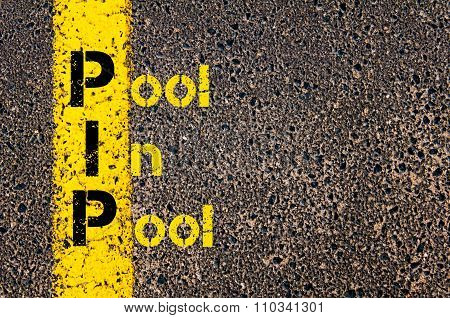 Accounting Business Acronym Pip Pool In Pool