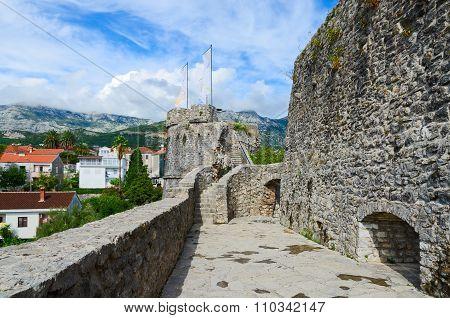 The fortress Kanli Kula (Bloody Tower) in Herceg Novi Montenegro poster