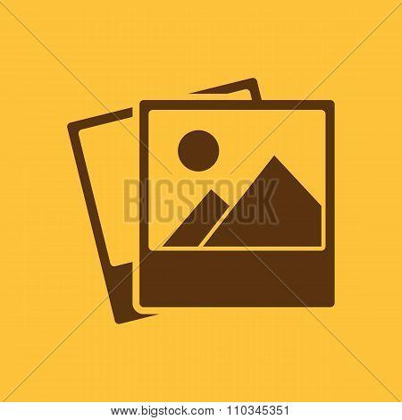The photo icon. photograph and image, snapshot symbol. Flat